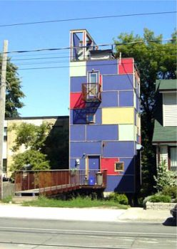 Colorful House in Toronto, Ontario, Canada