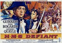 H.M.S. DEFIANT - 1962 POSTER - ALEC GUINNESS, DIRK BOGARDE & ANTHONY QUAYLE