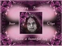 Happy Birthday dear Olya