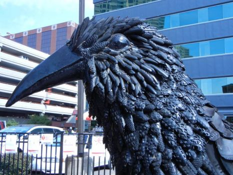 Recycled Tire Crow- ArtPrize in Grand Rapids