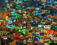 colourful houses in Lima, Peru