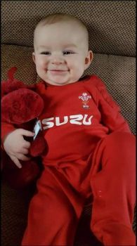 Grandson in Welsh Rugby Union kit
