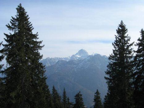 Mangart, taken from the Lussari skislope