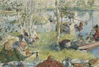 Carl Larsson--Catching Crayfish 1896