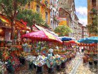 Paris flower vendors