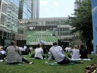Big Screen Tennis - Canary Wharf