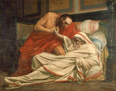 Jean Paul Laurens (French 1838–1921), The Death of Tiberius (1864)