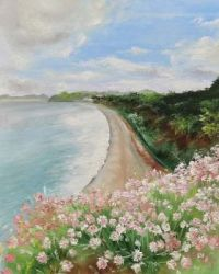 Beach and flowers