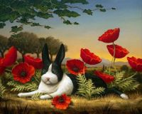 Bunny and Poppies