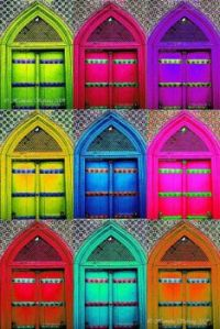 Colorful doors