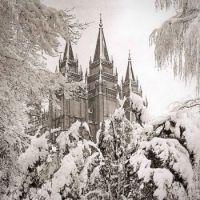 Christmas day snow in SLC, Utah