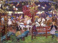 Maurice Prendergast (American, 1858–1924), Flying Horses (ca 1902-1906)