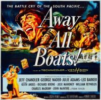AWAY ALL BOATS - 1956 MOVIE POSTER  JEFF CHANDLER, GEORGE NADER, LEX BARKER