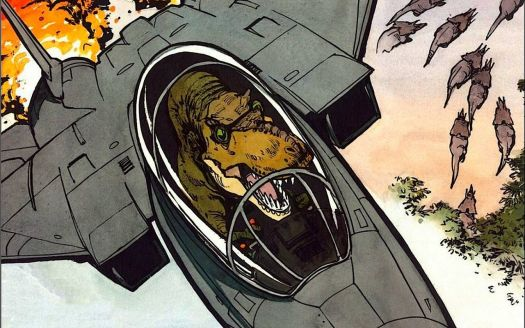 T-Rex in a Fighter Jet
