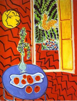 Red interior by Matisse