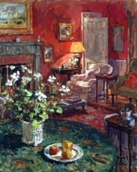 Interior with White Geraniums