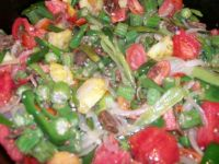 Okra and Tomatoes, yum