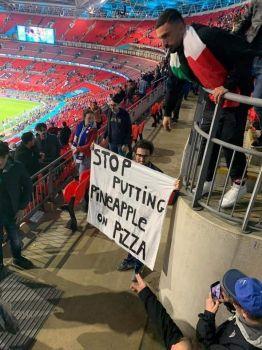 Italian fans at the European Cup Final