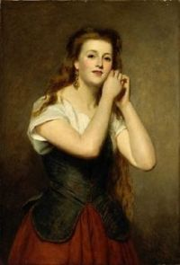 A Young Woman 1875 by William Powell Frith (1819-1909)