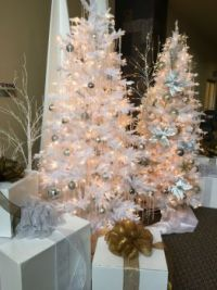 Christmas Trees in White III