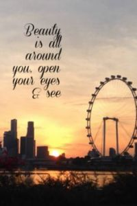 Theme: Sunset @Marina Bay Gardens by the Singapore River