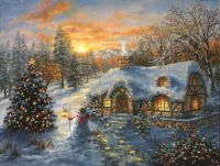 'Christmas Cottage' by Nicky Boehme