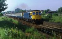 Loco-hauled train passing Selsdon