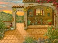 Southwest Sunset by Janet Kruskamp