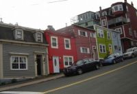 Colourful homes St. John's Nfld