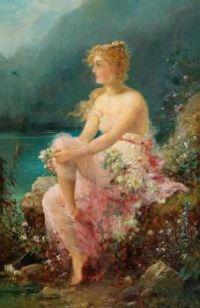 """Hans Zatzka, """"Water Lilies"""""""