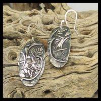 Sterling Free Form earrings