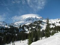 Mt. Rainier winter scene