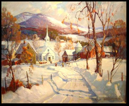 Sunday Morning, New England Winter by James King Bonnar