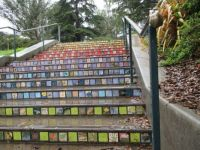 Picture tiles, Golden Gate park, California