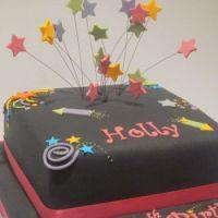 one-tier-firework-birthday-cake