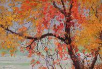 Fall -Edward Okun- 1912, oil painting (Poland)