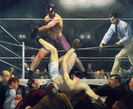 George Bellows's magnificent painting, Dempsey and Firpo