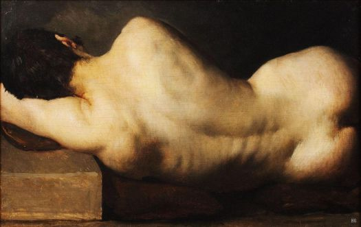 The French  School, Reclining Nude from Behind (19th century)