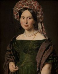 Christian Albrecht Jensen Cathrine Jensen, née Lorenzen, the Artist's Wife Wearing a Turban 1842-44