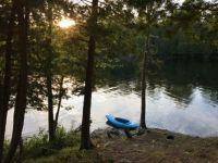 Taking a paddling break