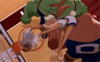 Lola Bunny finishes her dunk
