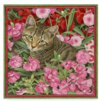 cats-in-pink-flowers-acrylic-painting-print-on-wrapped-canvas