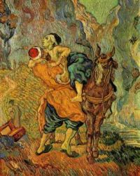 Vincent van Gogh--The Good Samaritan (after Delacroix),1890