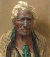 Charles Frederick Goldie (New Zealand, 1870–1947), An Aristocrat: Atama Paparangi, a Chieftain of the Rarawa Tribe of Maoris (1933)