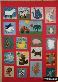 applique animal quilt for youngest grandson
