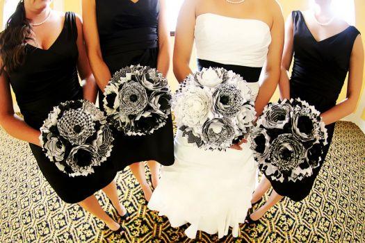 Wedding Bouquets of Paper using Cricut