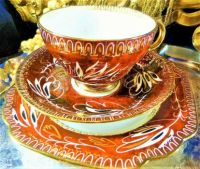 BEAUTIFUL TEA CUP, SAUCER & LUNCHEON PLATE