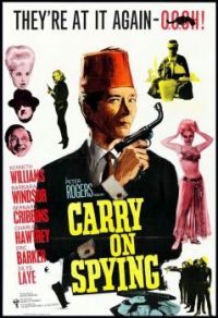 CARRY ON SPYING- 1963 POSTER KENNETH WILLIAMS, BARBARA WINDSOR