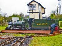 bure valley railway 25-03-2012 spitfire turning at wroxham station 02