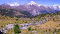 Monte Bianco e Torrente Rutor